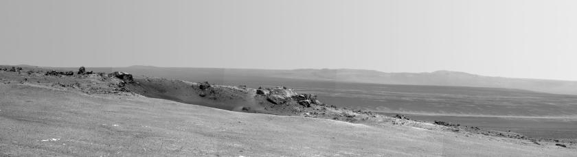 Photo: Edge of Endeavour Crater on planet Mars.