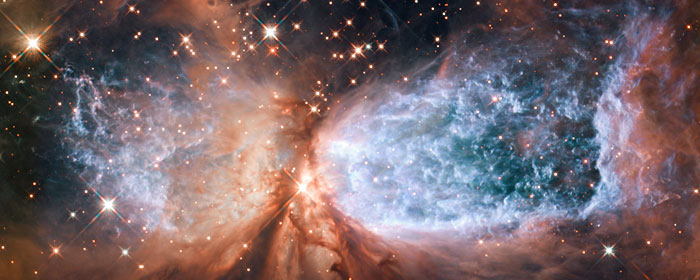 Photo: Hubble Space Telescope image of star-forming region Sh 2-106, or S106 for short.