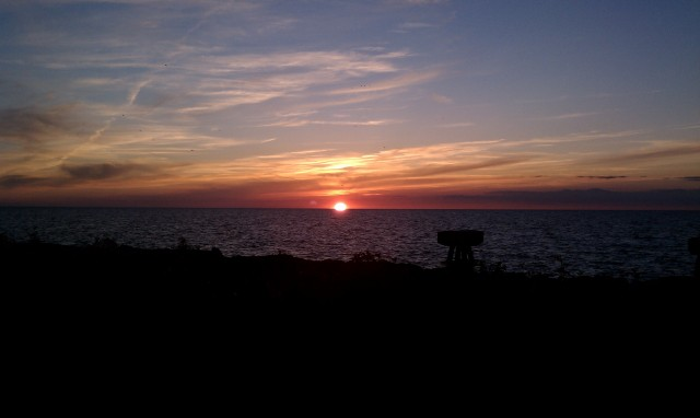 Photo: Sunset over Lake Erie by Christopher Christe