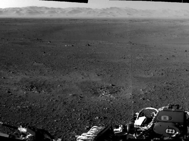 Photo: First two images of Martian surroundings from Curiosity's mast cam. Image credit: NASA/JPL-Caltech
