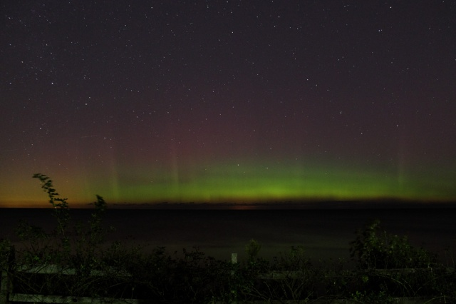 Photo: Auroral display over Lake Erie. Photo by Christopher Christie.