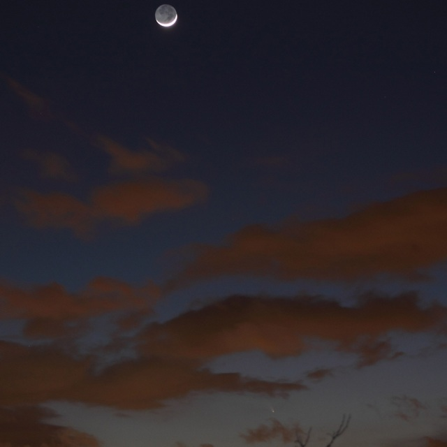 Photo: Comet & Moon, by Christopher Christie.