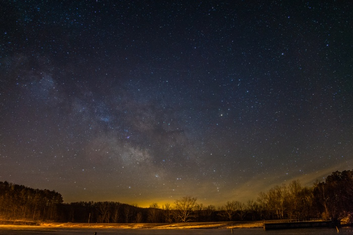 The Milky Way and galactic center by Alan Studt.