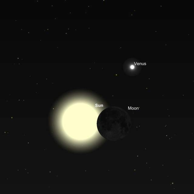 Image: Oct 23 eclipse begins.