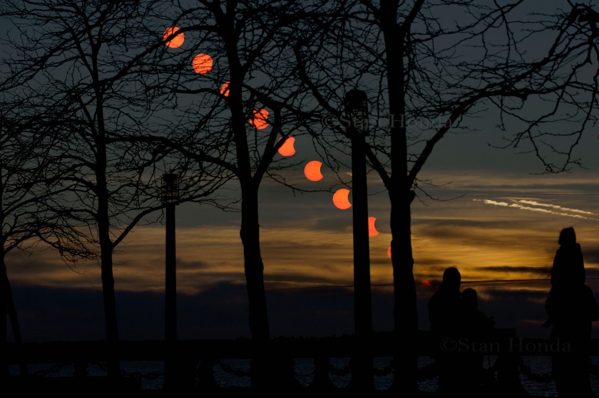 Photo: Solar eclipse sequence by Stan Honda.