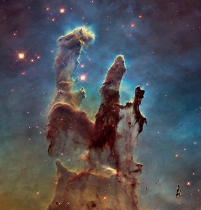 "Photo: Iconic ""Pillars of Creation"" reimaged. Credit: NASA, ESA/Hubble and the Hubble Heritage Team"