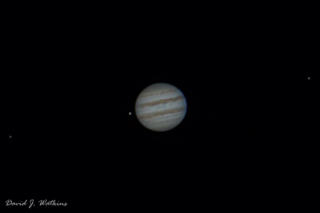 Photo: Jupiter with moons, by David Watkins.