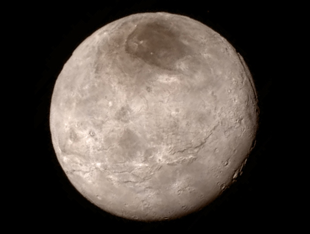 Photo: Pluto's largest moon, Charon. Credits: NASA/JHUAPL/SWRI