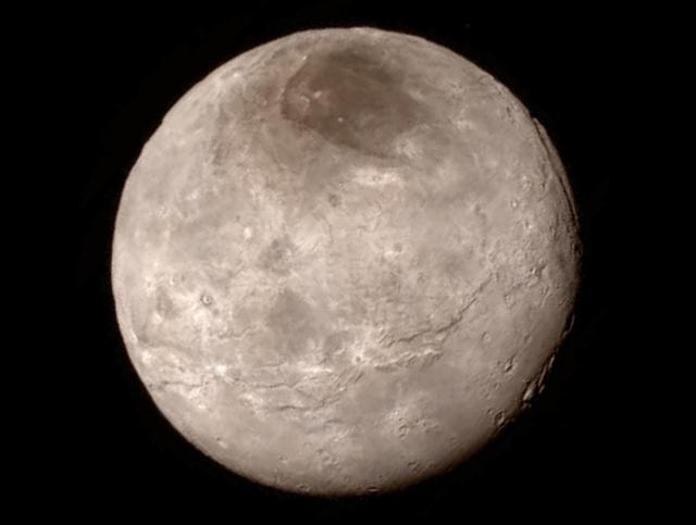 Photo: Pluto's largest moon, Charon. Credits: NASA/JHUAPL/SWRI