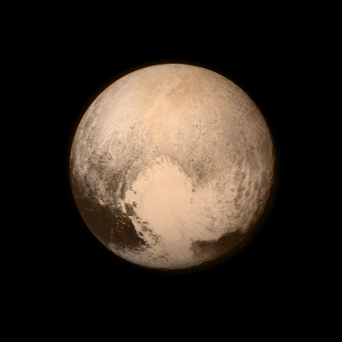 Photo: Pluto as seen by NASA's New Horizons, July 13, 2015