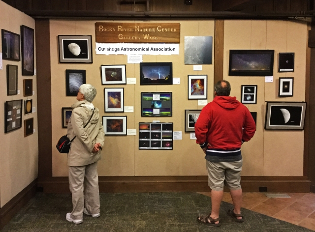 Photo: Gallery wall at the Rocky River Nature Center. Photo by James Guilford.