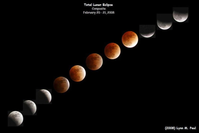 Photo: Total Lunar Eclipse Sequence, February 2008