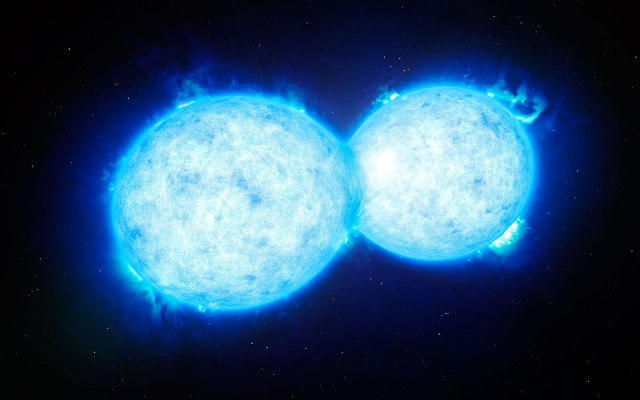Image: Artist's impression of two contacting stars. Credit: ESO