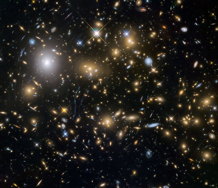 Photo: Galaxy cluster and gravitational lensing. Credit: NASA/ESA