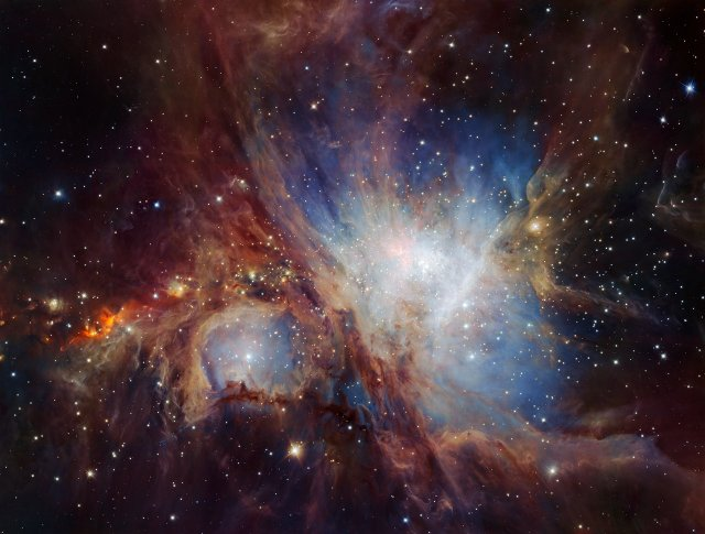 Photo: This spectacular image of the Orion Nebula star-formation region was obtained from multiple exposures using the HAWK-I infrared camera on ESO's Very Large Telescope in Chile. This is the deepest view ever of this region and reveals more very faint planetary-mass objects than expected. Credit: ESO/H. Drass et al.