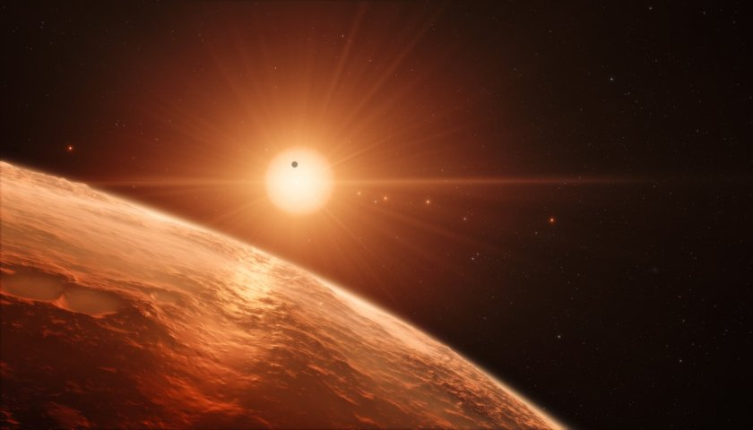 Image: Star system with planets. Credit: ESO/M. Kornmesser/spaceengine.org