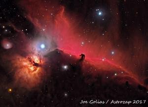 Photo: IC 434 & B33, The Horsehead Nebula - by Joe Golias