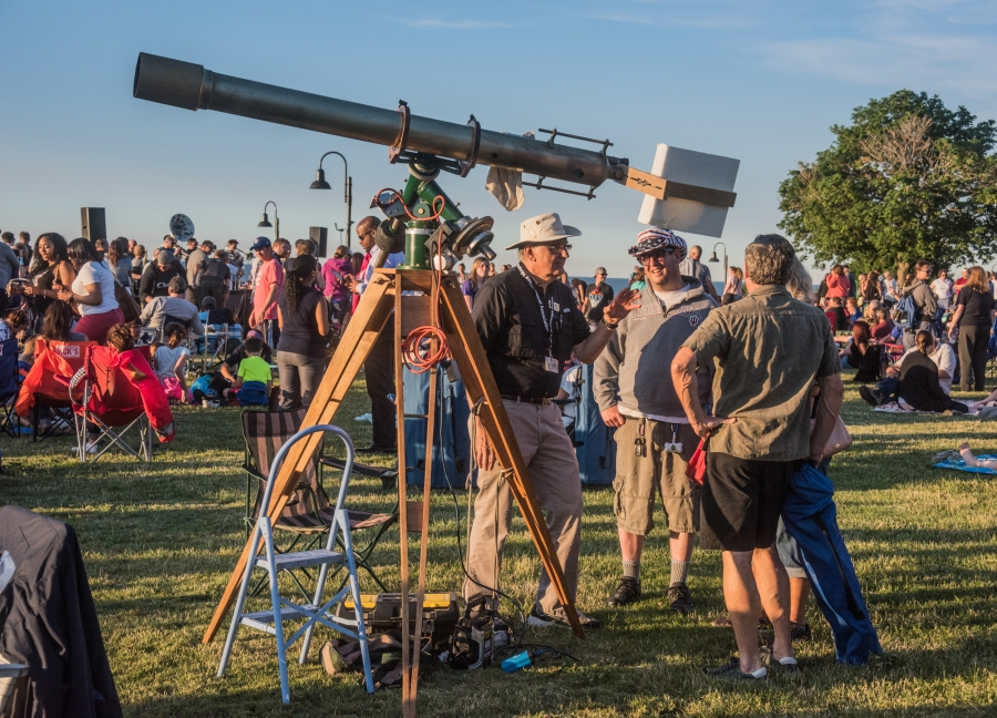 Photo: Gary Kader's Antique Telescope Projecting Solar Image, by Alan Studt