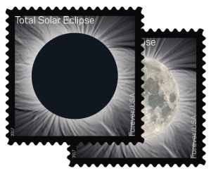 Image: Eclipse Stamps Transform at a Touch - Credit: USPS