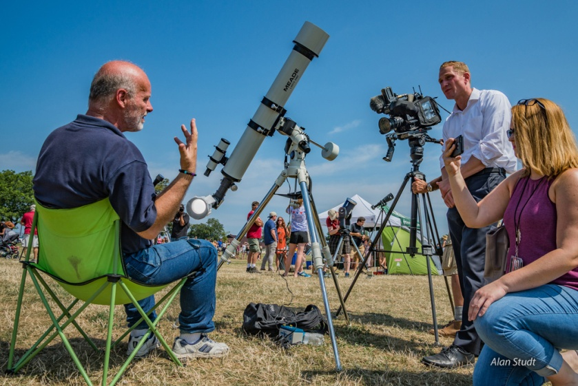 Photo: Jay Reynolds Interview at Edgewater. Credit: Alan Studt