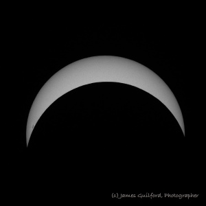 Photo: Partial eclipse at maximum. Photo by James Guilford.