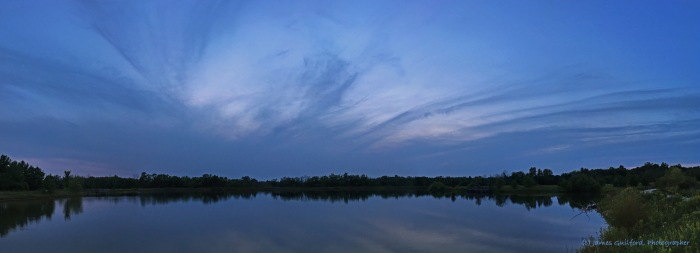 Photo: Panoramic view of Letha House Park Lake. Photo by James Guilford