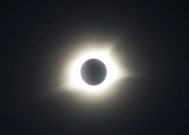 Photo: Totality with Earth Shine - Handheld. Credit: Matt Franduto