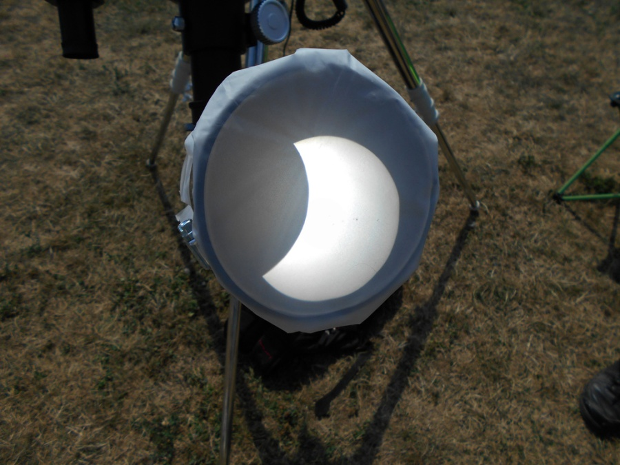 "Photo: Home-Built ""Sun Funnel"" works Remarkably Well. Credit: Nancy Whisler"