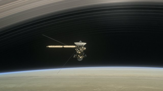Image: Artist's concept of Cassini spacecraft at Saturn. Credit: NASA/JPL-Caltech