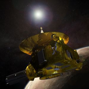 New Horizons Spacecraft - Artist's depiction of the spacecraft as it passed through the Pluto/Charon system in July 2015. Image Credit: NASA
