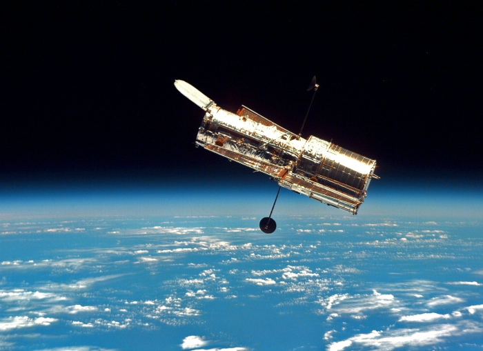 The Hubble Space Telescope (HST) photographed by astronauts on a servicing mission in 1997. Credit: NASA/ESA