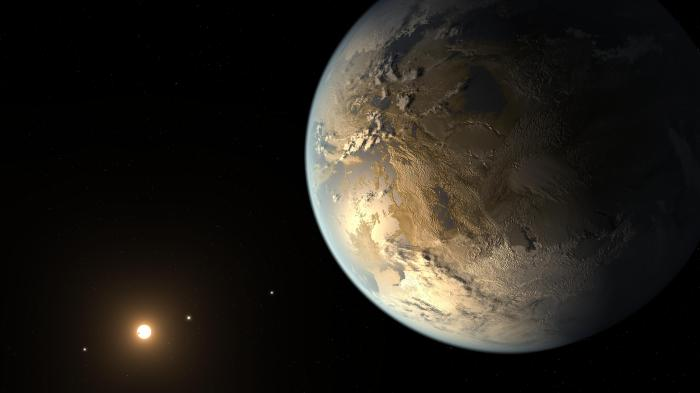 Artist's Concept: Kepler-186f was the first rocky planet to be found within the habitable zone -- the region around the host star where the temperature is right for liquid water. This planet is also very close in size to Earth. Even though we may not find out what's going on at the surface of this planet anytime soon, it's a strong reminder of why new technologies are being developed that will enable scientists to get a closer look at distant worlds.