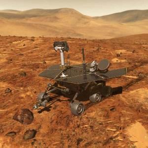 Artist's Concept: Spirit & Opportunity Mars Rovers. Image Credit: NASA
