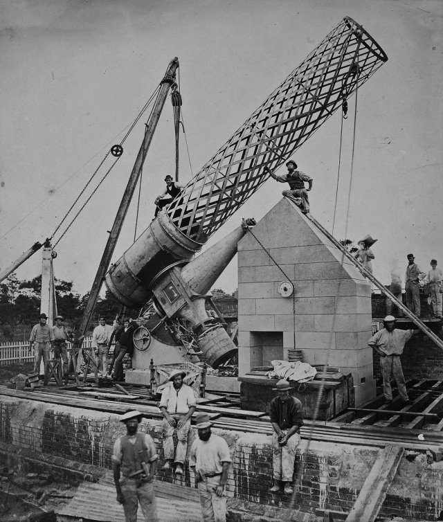 Photo: Photo: The Great Melbourne Telescope was built by Thomas Grubb of Dublin in 1868 and erected at Melbourne Observatory in 1869. It was a reflector telescope with a speculum (metal) mirror of 48 inches. Image Courtesy:  Museums Victoria