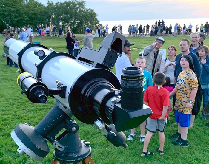 Photo: Telescope and Eyepiece. Photo by John D. Burkett.