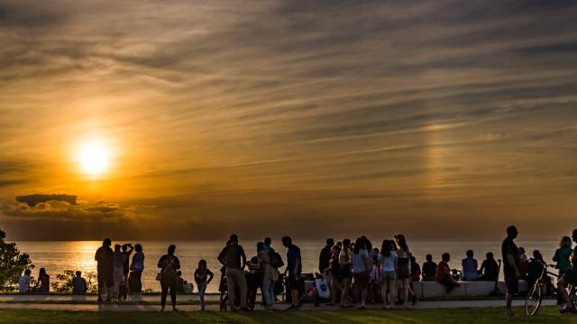Photo: Partial Sunbow. Photo by Alan Studt.