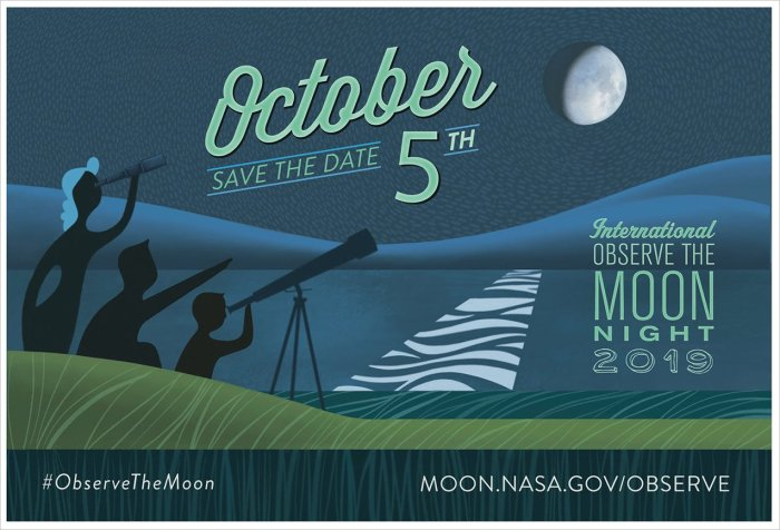 Graphic: International Observe the Moon Night - October 5, 2019