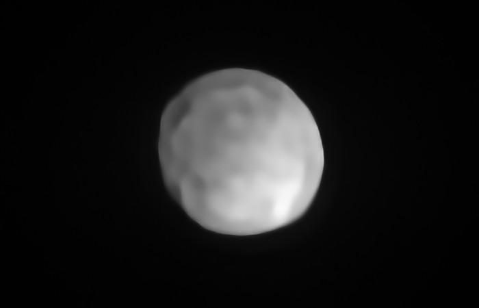 Image: Asteroid/Dwarf Planet Hygiea. Credit: ESO/P. Vernazza et al./MISTRAL algorithm (ONERA/CNRS)