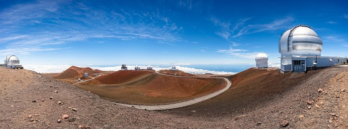 Panorama of the Mauna Kea Observatories by Frank Ravizza.