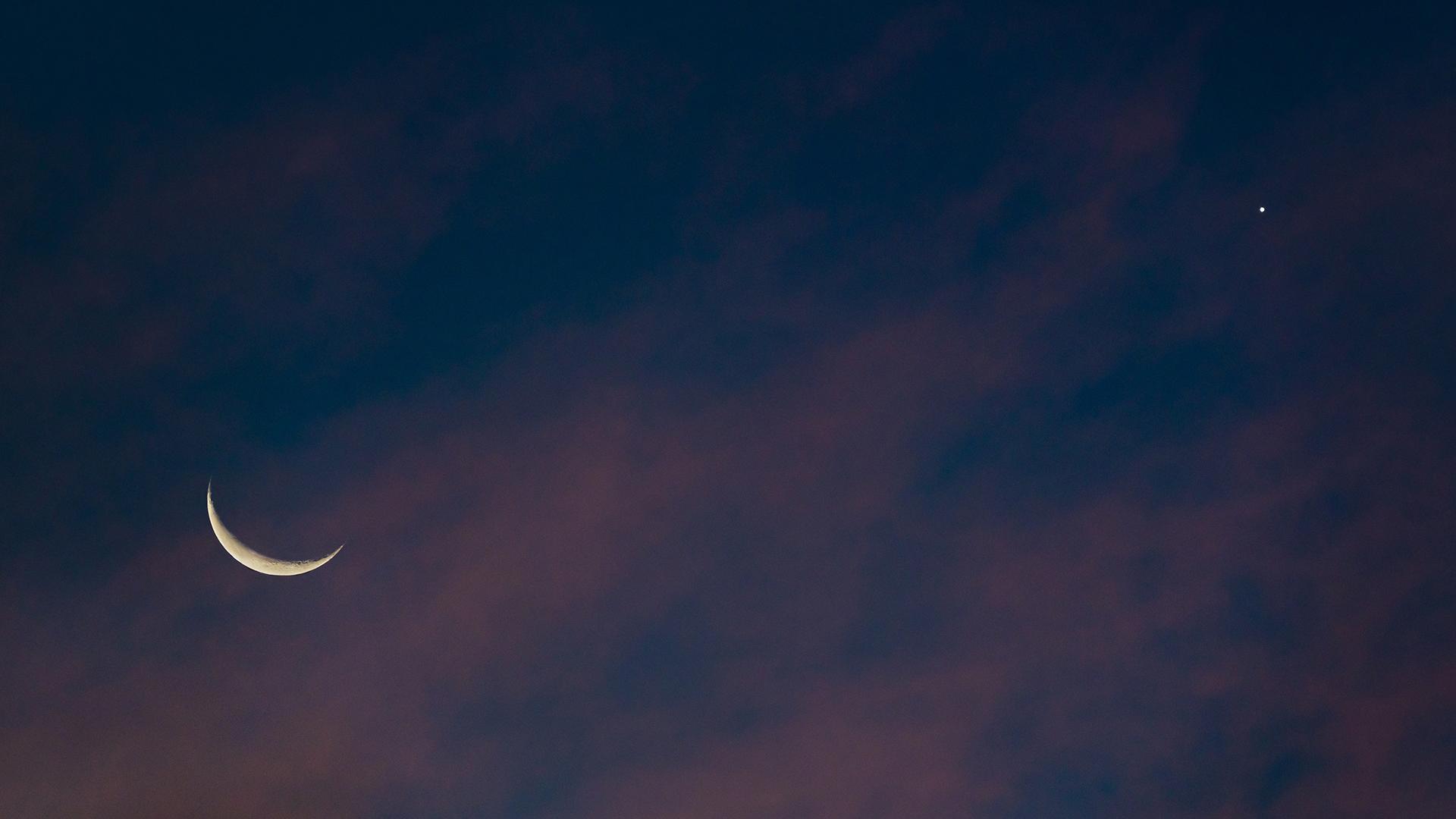 Studt Crescent Moon & Venus